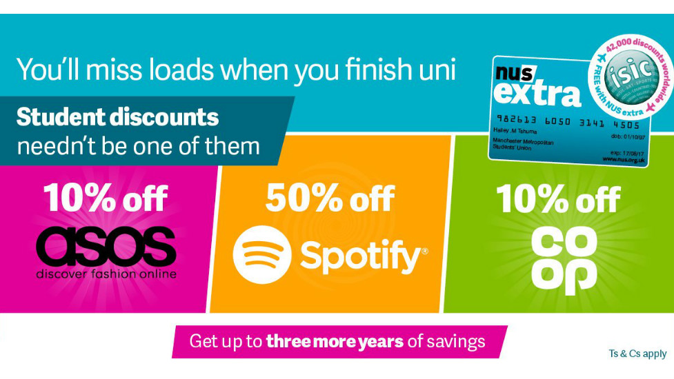 Money off with NUS Extra